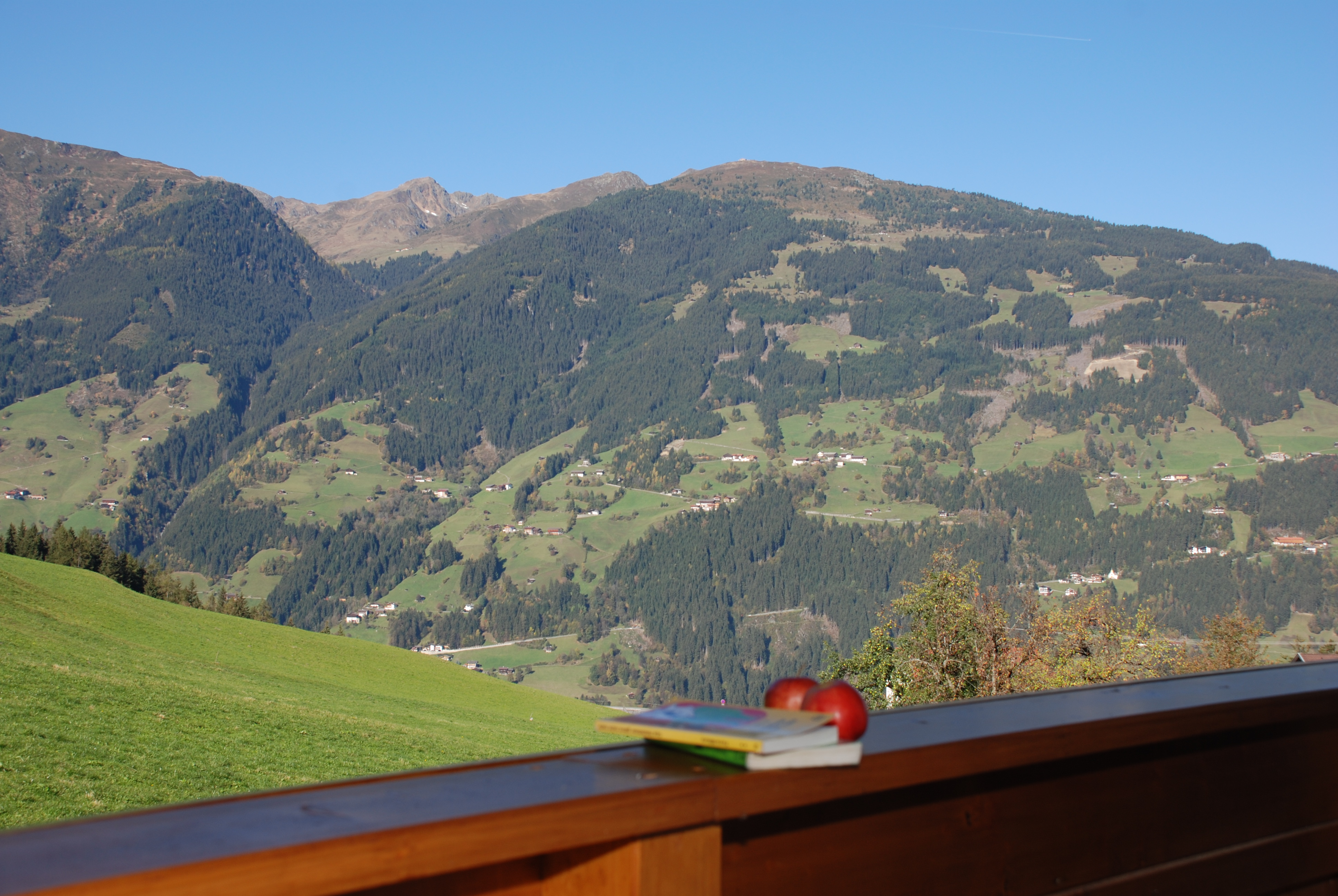 Ausblick auf die Zillertaler Alpen
