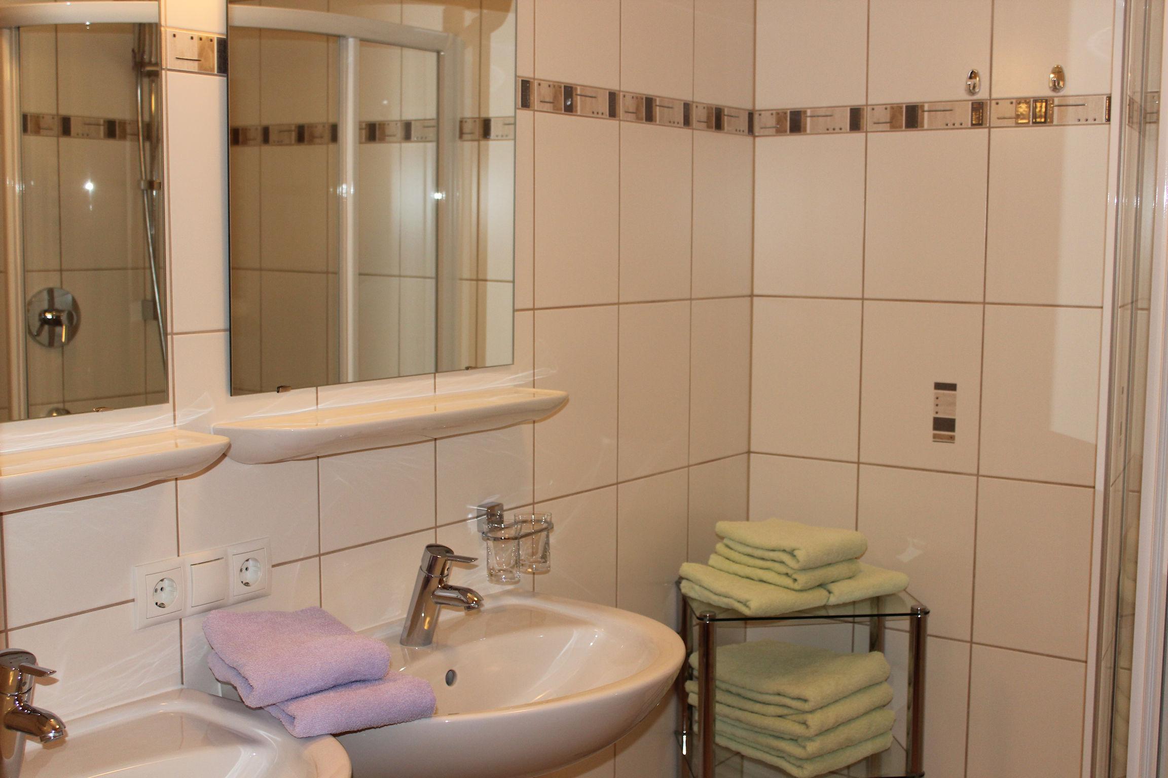 Modernes Badezimmer im Apart Magdalena