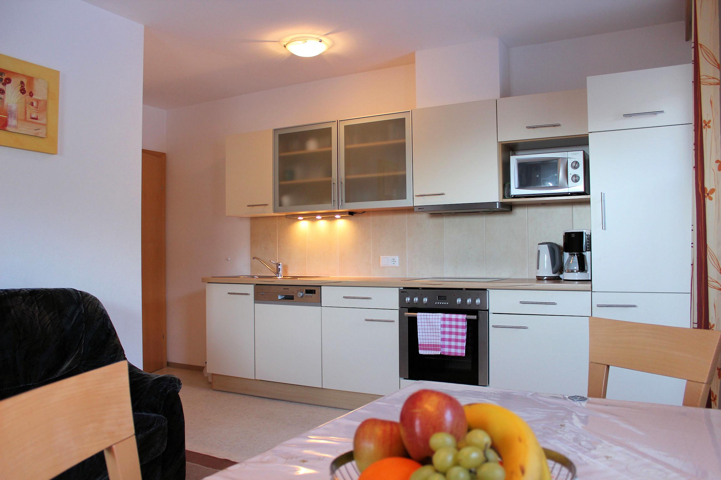 Moderne Küche im Apart Magdalena