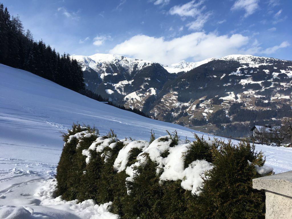 Ausblick vom Apart Magdalena im Winter